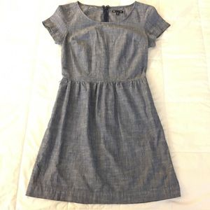 Gap Blue Chambray Dress Pockets Women's Size 0
